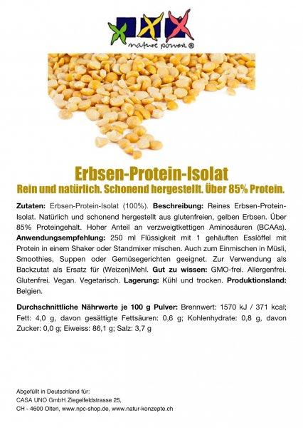 ERBSEN-Protein-Isolat vegan_Muskel aufbauen, Vitalität
