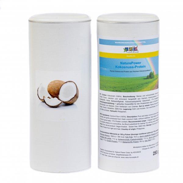 KOKOSNUSS-Protein-Isolat, 500g für Smoothie, Shake, zum Kochen, Backen