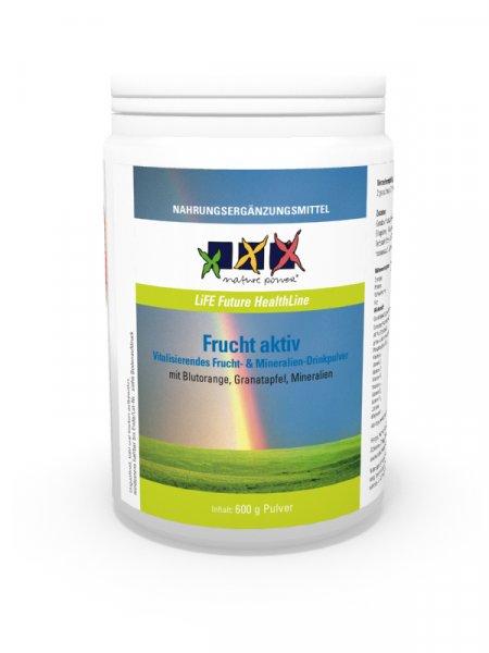 Frucht aktiv, POWERDrinkpulver für Vitalität, Energie, Konzentration